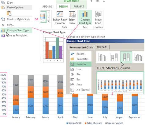 create  column chart   combine