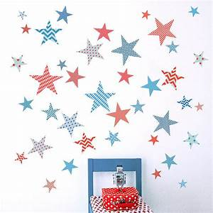 Children39s patterned star wall stickers by koko kids for Star wall decals