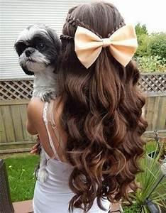 Coiffure Fille Cheveux Longs Les Cheveux Ondul S Comment Les