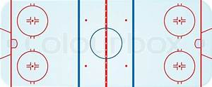 Illustration Of An Overhead View Of An Ice Hockey Rink