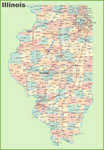 Illinois Map with Cities and Towns