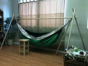 appealing diy hammock chair stand indoor with wood floor
