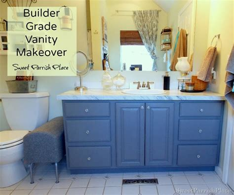Builder Grade Vanity Makeover Master Bath Progress