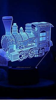 Toy Train Night Light for Kids LED Table Lamp 3D Illusion ...