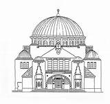 Coloring Synagogue Pages Building Wikimedia Commons Jewish Template Sheets Printable Sketch Slovakia sketch template