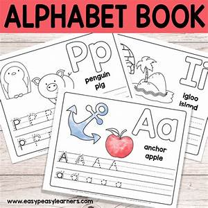 free printable alphabet book alphabet worksheets for pre With letter tracing books