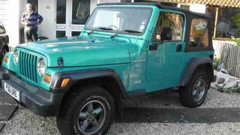 aqua jeep wrangler jeep wrangler 2 4l manual 1997 car for sale