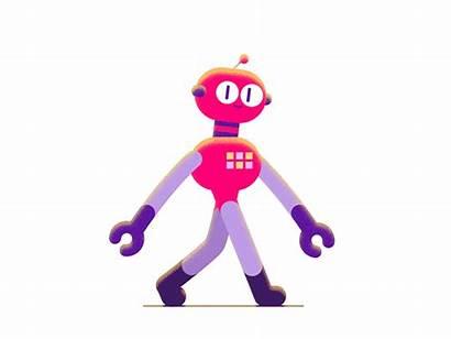 Robot Ai Walk Animation Dribbble Cycle Mr
