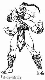 Mortal Kombat Coloring Printable Scorpion Mk11 Sub Zero Goro Characters Excellent Desenhos Adult Jin Kung Colorir Sketch Drawings Pra Entitlementtrap sketch template