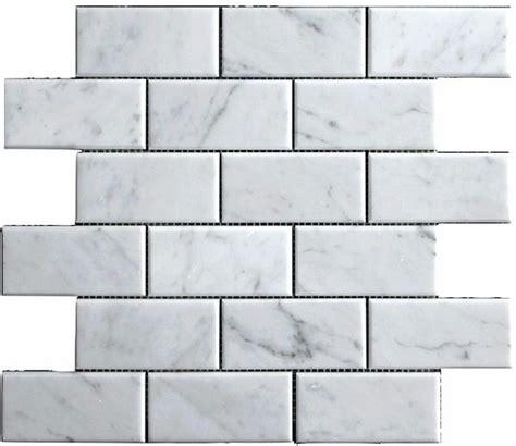 carrara venato 2x4 quot wide beveled honed marble