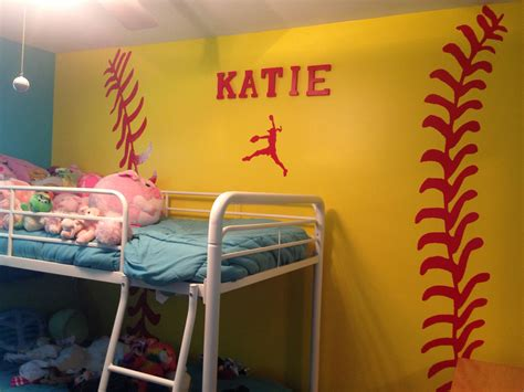 Softball Themed Bedroom  My Life ⚾️⚾️ Pinterest