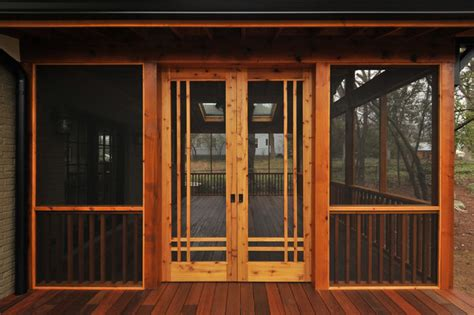 craftsman screen porch craftsman atlanta by