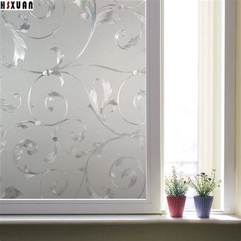 Privacy Decorative Glass Window Film,3d Flower Frosted