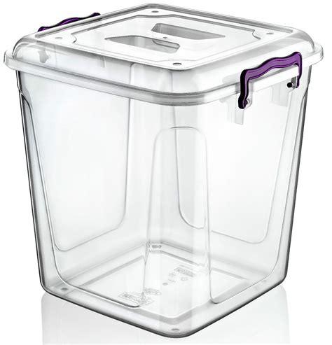 big kitchen storage containers large 40 litre clear plastic box kitchen food flour 4629