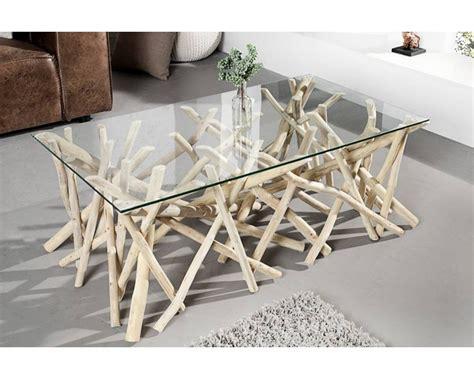 indogate grande table de salon en verre
