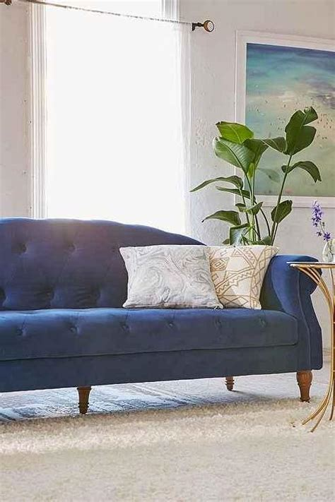 deep sofa  regal spa blue velvet  roomservicestore