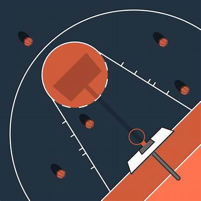 Basketball Court Simple Illustration Outdoor Vector Flat