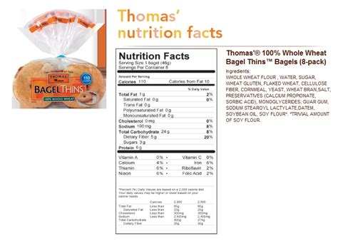 thomas bagel nutrition facts nutrition ftempo