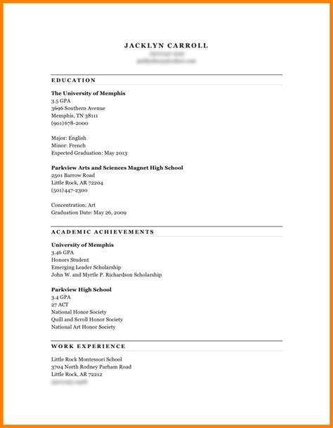 how to do a resume paper for a simple resume template