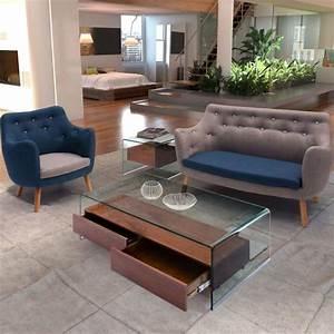 Table Basse Loft : la table basse avec tiroir un meuble pratique et d co ~ Teatrodelosmanantiales.com Idées de Décoration