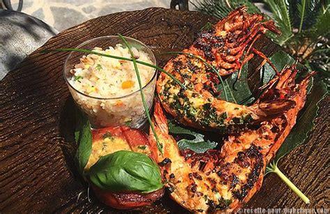 cuisine langouste plancha gambas géantes à la plancha et riz cantonnais