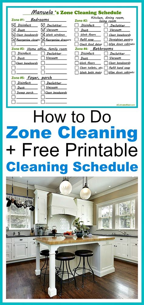 cleaning schedule zone printable acultivatednest clean blank print tasks keep interested might written tips