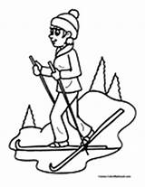 Skiing Coloring Sports Water Pages Ski Colormegood sketch template