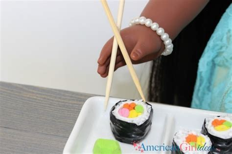 diy american girl sushi craft american girl ideas