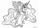 Pony Coloring Pages Princess Celestia Printable Cool2bkids sketch template