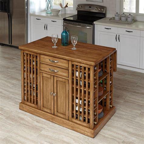 home styles vintner warm oak kitchen island  storage