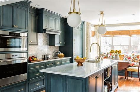 country blue kitchen cabinets blue kitchen cabinets with gold hardware transitional 5938