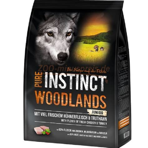 hundefutter pure instinct woodlands junior getreidefrei