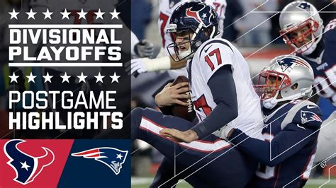 texans  patriots nfl divisional game highlights youtube