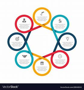 Abstract Felements Of Cycle Diagram With 8 Steps Vector Image
