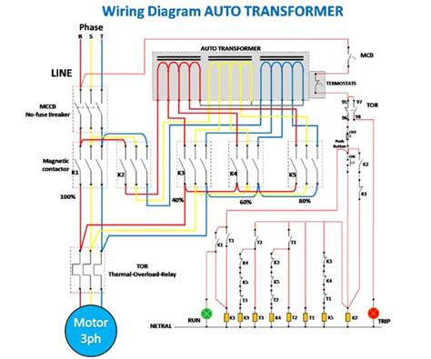 auto starter motor wiring diagram wiring diagram of starting motor with auto transformer 4 steps my electrical diary