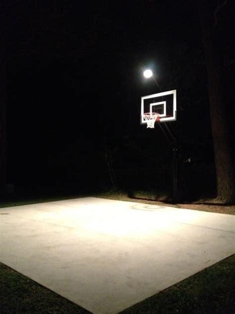 outdoor basketball court lighting night court