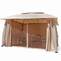 excellent patio tent with net outdoor home 10' x 13' backyard garden awnings Patio Gazebo canopy tent netting 826648298308   eBay