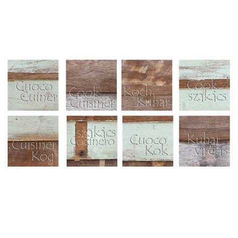 stickers pour porte de cuisine stickers carrelages pour la cuisine effet bois usé avec