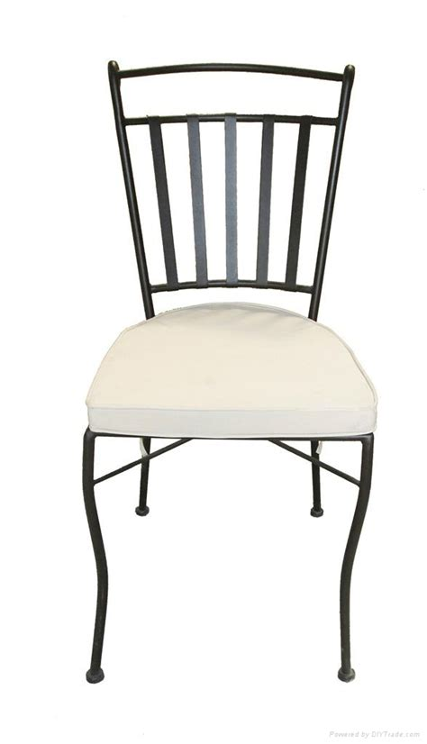 powder coated wrought iron chair triquimex