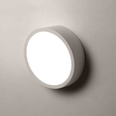 contemporary round led wall light 20 width black white