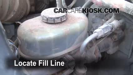 ford   super duty brake fluid level check