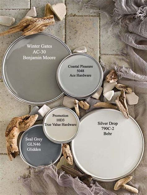 driftwood gray paint colors via bhg color palettes