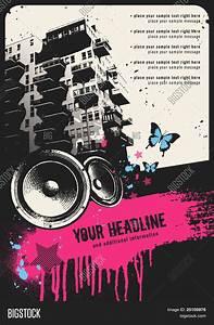 Retro Urban Party Flyer Template Vector & Photo | Bigstock
