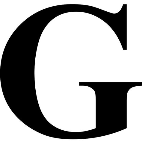 The Letter G in Black Times New Roman Serif Font Typeface ...