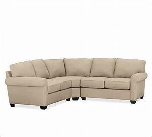 buchanan 3 piece l shape sectional with corner wedge With sectional sofas with wedge corner