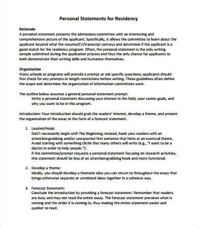 personal statement format    word documemts