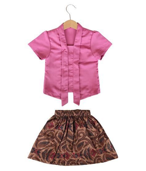 rok anak baby skirt classic kutubaru batik skirt fuschia kicau kecil