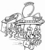 Carnival Coloring Pages Fair Rides Fun Drawing Sheets Scene Nice Non Getdrawings Coloringtop sketch template