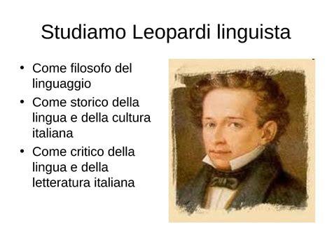 dispense linguaggio c leopardi linguista dispense