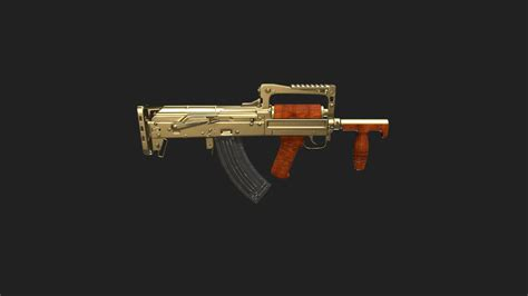 pubg groza pubg gold plate groza 3d model by skin tracker
